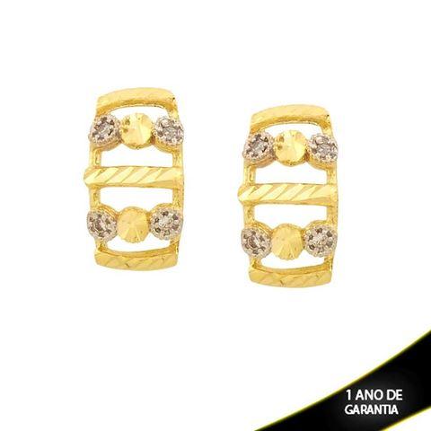 Imagem de Brinco Diamantado com Zircônias e Aplique de Rodio - 0210857