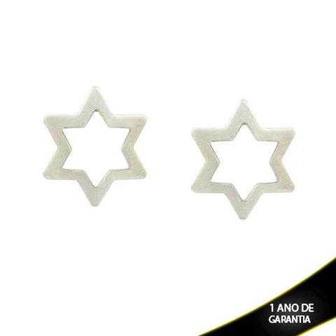 Imagem de Brinco Aço Inox Estrela de Davi - 0201575