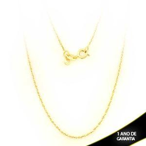 Imagem de Corrente Feminina Torcida e Diamantada 1mm 45cm - 0401875