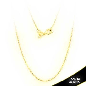 Imagem de Corrente Feminina Torcida e Diamantada 1mm 50cm - 0401899