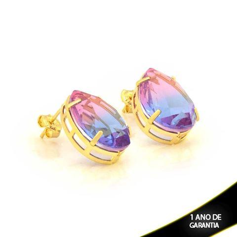 Imagem de Brinco Gota com Pedra Rainbow - 0211010