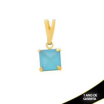 Imagem de Pingente Quadrado com Pedra de Zircônia Várias Cores - 0304163
