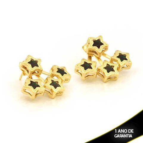 Imagem de Brinco Ear Jacket Estrelas com Strass Várias Cores - 0209289