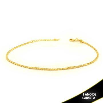 Imagem de Tornozeleira Trabalhada e Diamantada 23cm Mais 4cm de Extensor - 0600614