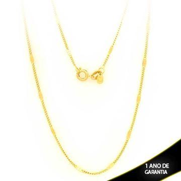 Imagem de Corrente Masculina com Plaquinha Diamantada 2mm 70cm - 0403223