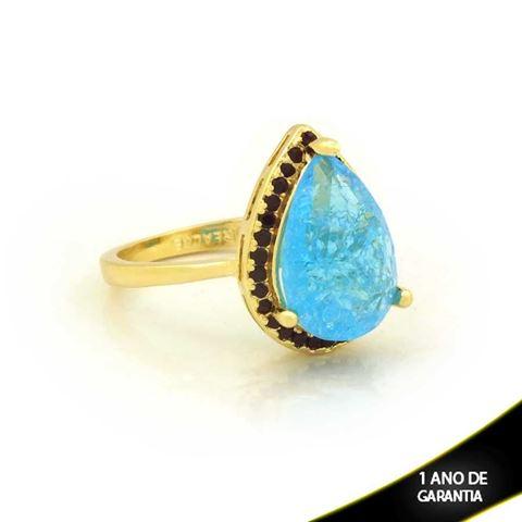 Imagem de Anel Gota com Pedras de Zircônia Várias Cores - 0104724