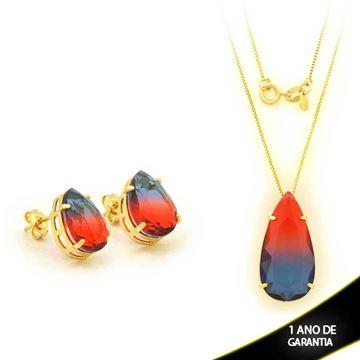 Imagem de Conjunto Gota com Pedra Rainbow Várias Cores - 0700925