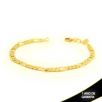Imagem de Pulseira Masculina Trabalhada e Diamantada 3x1 4mm 20cm - 0503342