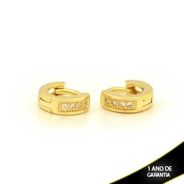 Imagem de Brinco Argola para Cartilagem com Quatro Zircônias - 0211230