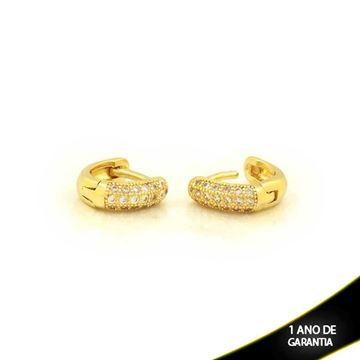 Imagem de  Brinco Argola para Cartilagem com Três Fileiras de Zircônias - 0211238