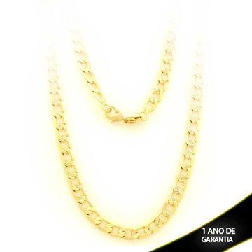 Imagem de Corrente Masculina Trabalhada e Diamantada 4mm 70cm - 0403262