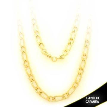 Imagem de Corrente Masculina Diamantada 1x1 5mm 70cm - 0403288