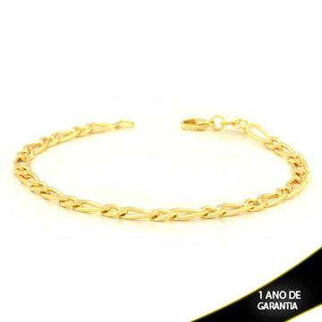 Imagem de Pulseira Masculina Diamantada 1x1 4,5mm 20cm - 0503595