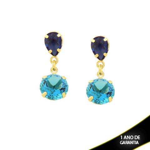 Imagem de Brinco com Duas Pedras Várias Cores - 0211402
