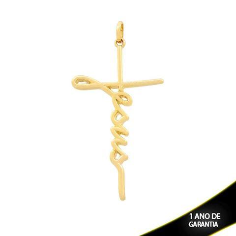 """Imagem de Pingente Cruz Escrito """"Jesus"""" - 0304258"""