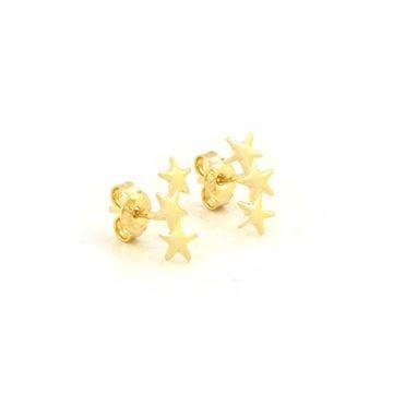 Imagem de Brinco Infantil Três Estrelas - 0210509