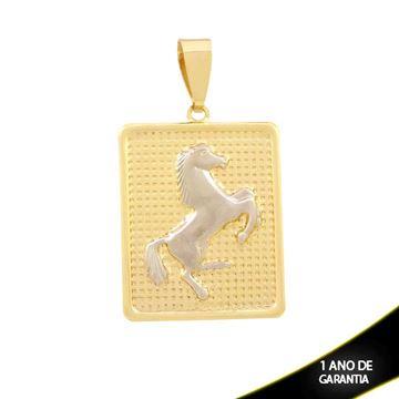 Imagem de Pingente Quadrado com Cavalo com Aplique de Ródio - 0304268