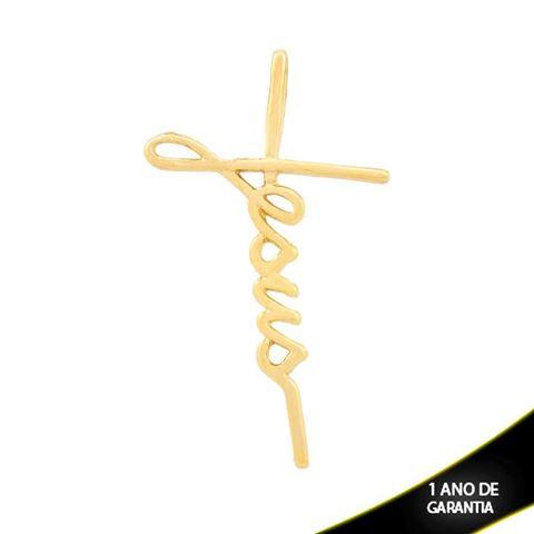 """Imagem de Pingente Cruz Escrito """"Jesus"""" - 0304271"""