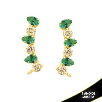 Imagem de Brinco Ear Cuff com Pedras Várias Cores - 0211558