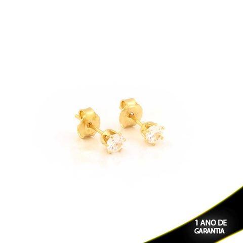 Imagem de Brinco Redondo com Pedra de Zircônia 4mm - 0211426