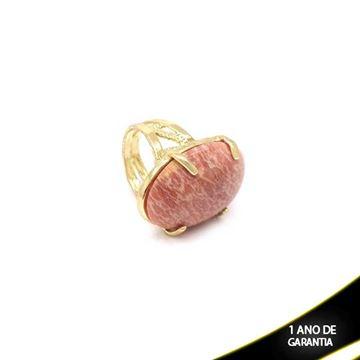 Imagem de Anel Pedra Natural Oval Várias Cores - 0103815