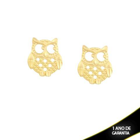 Imagem de Brinco Coruja Vazado e Diamantado - 0211540