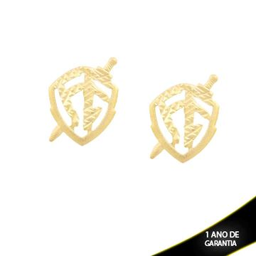 Imagem de Brinco Escudo da Fé Diamantado - 0211541