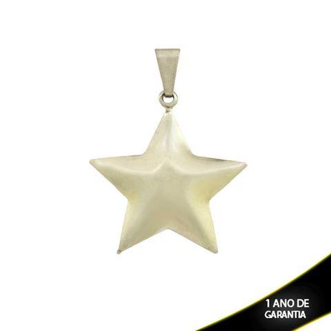 Imagem de Pingente Aço Inox Duplo Estrela Liso - 0300680
