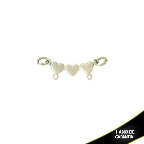 Imagem de Pingente Aço Inox Canga com Corações para Dois Meninos ou Meninas - 0302255
