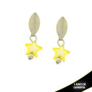 Imagem de Brinco Aço Inox Estrela Amarela - 0202455