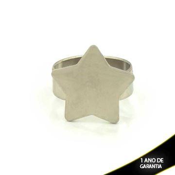 Imagem de Anel Aço Inox Regulável Estrela - 0101819