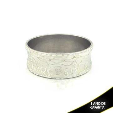 Imagem de Pulseira Bracelete Alumínio Abaulado Diamantado 25mm - 0500106