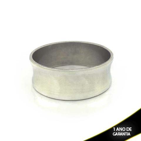 Imagem de Pulseira Bracelete Alumínio Abaulado Liso 25mm - 0500477