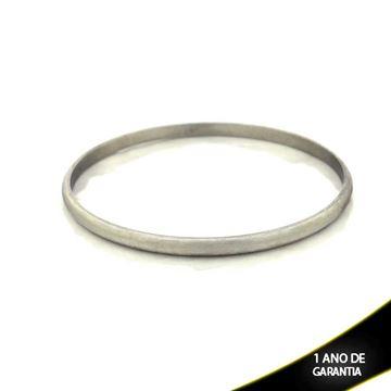 Imagem de Pulseira Bracelete Aço Inox Liso 4mm - 0500111