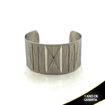 Imagem de Pulseira Bracelete Aço Inox Aramado 30mm - 0500464