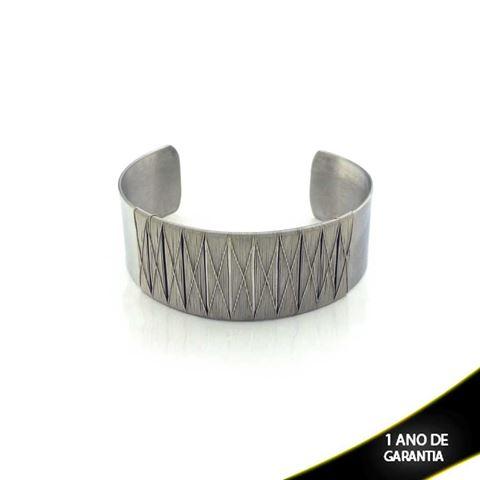 Imagem de Pulseira Bracelete Aço Inox Aramado 20mm - 0500462