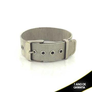 Imagem de Pulseira Bracelete Aço Inox Malha de Cinto 18mm - 0500463
