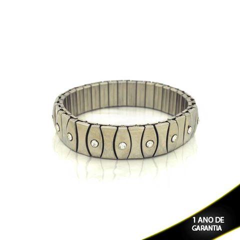 Imagem de Pulseira Bracelete Aço Inox com Strass 14mm - 0501378