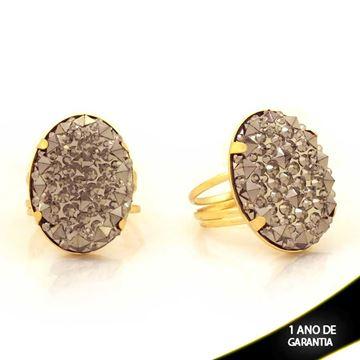 Imagem de Anel com Pedra Acrílica Oval - 0103844