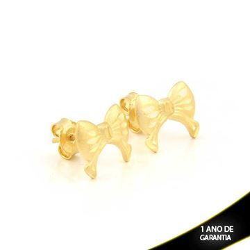 Imagem de Brinco Laço Fosco e Diamantado - 0211538