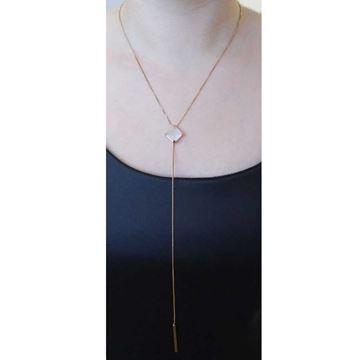 Imagem de Corrente Feminina com Pedra Natural Várias Cores 45cm Mais 5cm de Extensor - 0402785