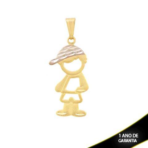 Imagem de Pingente Menino com Boné Diamantado e Aplique de Ródio - 0304284