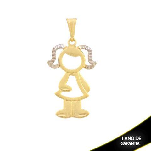 Imagem de Pingente Menina com Cabelo Diamantado e Aplique de Ródio - 0304285