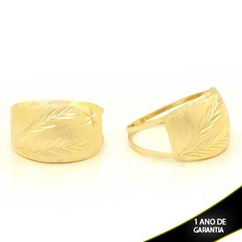 Imagem de Anel Desenhado Fosco e Diamantado - 0104784