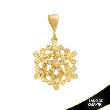 Imagem de Pingente Flores Diamantadas com Zircônia - 0304382