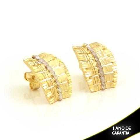 Imagem de Brinco Vazado e Diamantado com Aplique de Ródio - 0211719