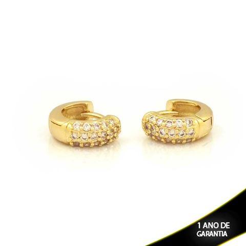 Imagem de Brinco Argola para Cartilagem com Zircônias - 0211743