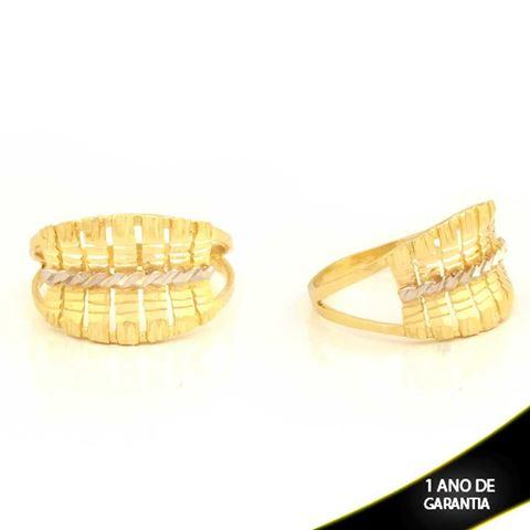 Imagem de Anel Vazado e Diamantado com Aplique de Ródio - 0104776