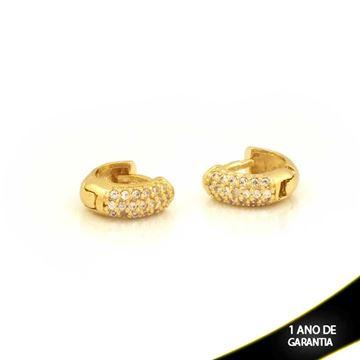 Imagem de Brinco Argola para Cartilagem com Zircônias Branco - 0211727