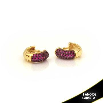 Imagem de Brinco Argola para Cartilagem com Zircônias Pink - 0211727